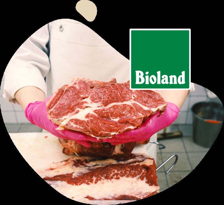 Biofleisch mit Bioland Siegel